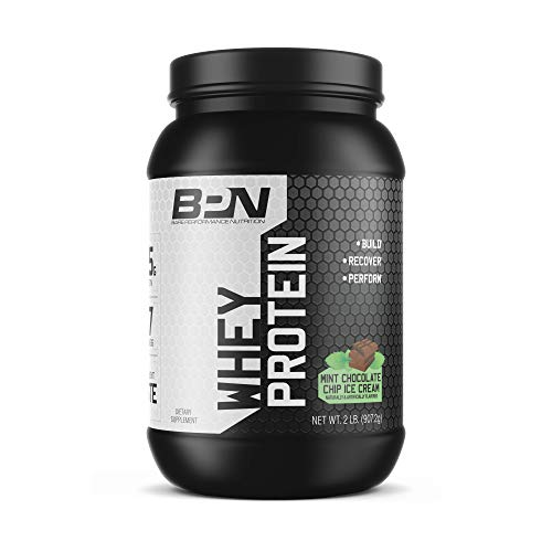Bare Performance Nutrition | Whey Protein Powder | 25G of Protein, Excellent Taste & Low Carbohydrates (28 Servings, Mint Chocolate Chip Ice Cream)