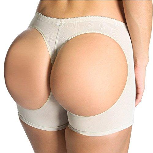 Kiwi-Rata Nalgas Panty Faja de Control Suave y Glúteos Libres Boxers Braguitas Moldeadoras Braga Lencería Reductoras Levanta Colas para Caderas para Mujer Desnudo