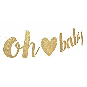 Oh Baby Banner | baby shower | pregnancy announcement | gender reveal party | baby shower decorations | from CC Party Co.