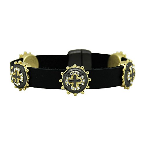 [Bon Jewels - Black Strap Bracelet] (Lucky Lady Casino Costume)