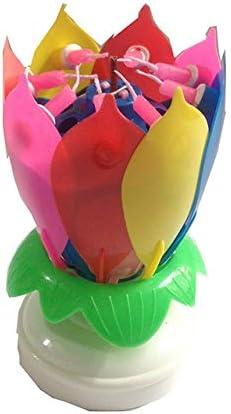 Styleart 1 bougie musicale Happy Birthday en forme de fleur de lotus pour d/écoration de g/âteau