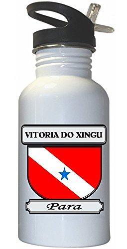 vitoria-do-xingu-para-city-white-stainless-steel-water-bottle-straw-top