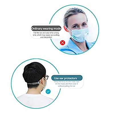 10PCS Mask Extenders Anti-Tightening Ear Protector Decompression Holder Hook Ear Strap Accessories Ear Grips Extension White: Clothing
