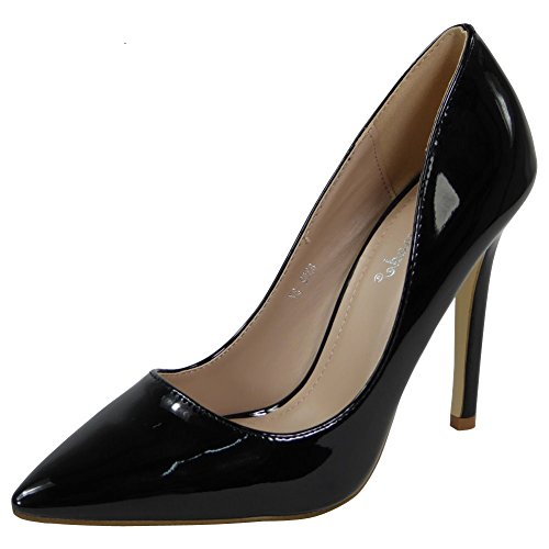 8 Party Court Black Work Womens Out Size 3 Stiletto High Going Ladies Office Shoes Heel tqwazxHO4