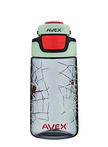 AVEX Kid's Auto Seal Freeride Water Bottle, Charcoal, 16-Ounce