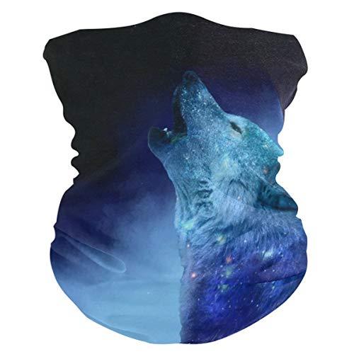 NMCEO Headband Howling Galaxy Wolf Headwear Sport Turban/Headkerchief/Sweatband for Unisex Outdoor Activities