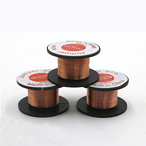 Tucuxi 1PC Copper Soldering Wire 0.1mm PCB Link Jumper Wire Maintenance Jump Line for Mobile Phone Computer PCB Welding Repair China