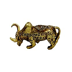 Brassy powerful strong power war bull ox mini brass life protection with amulet box and necklace