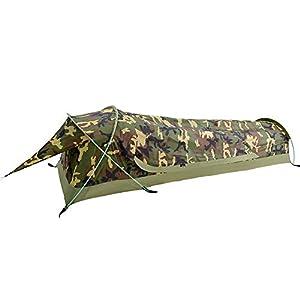 GEERTOP テント 超軽量 1人用 コンパクト 防水 BIVY 登山 キャンプ アウトドア用 高速簡単セットアップ (迷彩)
