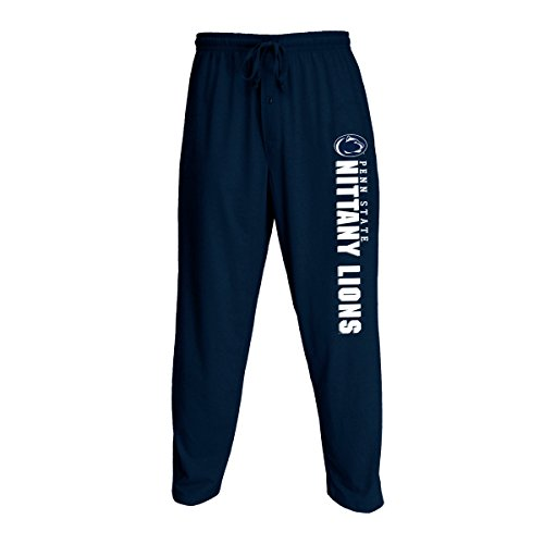 Concepts Sport Men's NCAA Knit Solid Pajama Pants with Logo-Penn State Nittany Lions-Dark Blue-XL -