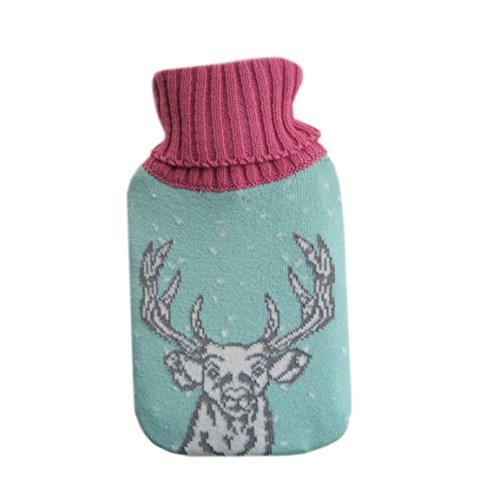 NPW Fair Isle Mini Reusable Gel Hand Warmer, Cream Heart