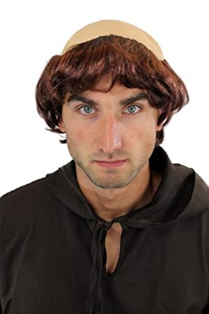 Wig Me Up Karneval Fasching Halloween Perucke Mittelalter Monch Tonsur Priester 739 P33