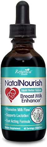 Natal Nourish - Lactation and Breastfeeding Support - All-Natural Liquid for 2X Absorption - Fenugreek, Blessed Thistle, Turmeric and More