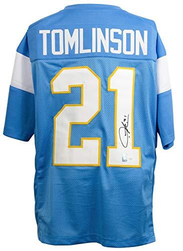 LaDainian Tomlinson Signed Custom Blue Pro-Style Football Jersey - Signed Tomlinson Football Ladainian