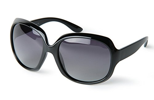 Corciova® Classia Simple Oversized Women's Polarized Sunglasses UV400 Black