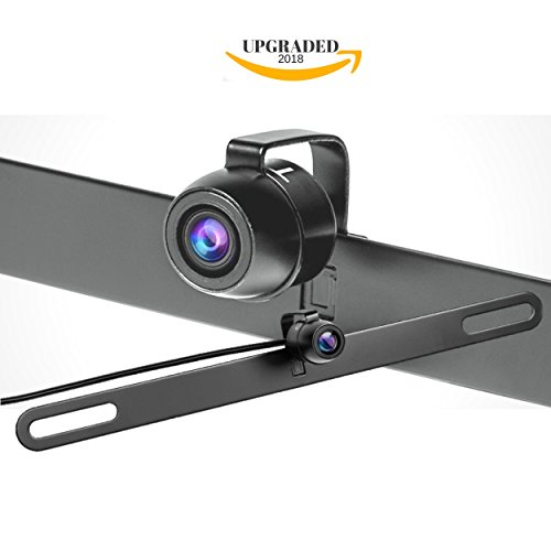 【Upgraded】Car Backup Camera License Plate - Front View / Rear View Camera - 150° Viewing Angle Universal Waterproof High Definition Color Night Vision Reverse Camera (TTP-C13B) - Limited Time Sale (Camera Plate License Rear)