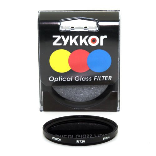 Zykkor 58mm 720nm IR72 Infrared IR Filter
