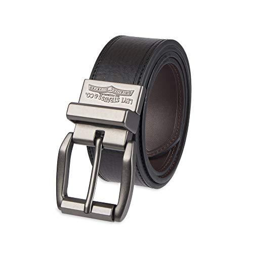 Levi's Men's Black To Brown Laminate Reversible Leather Belt,Black/Brown,38