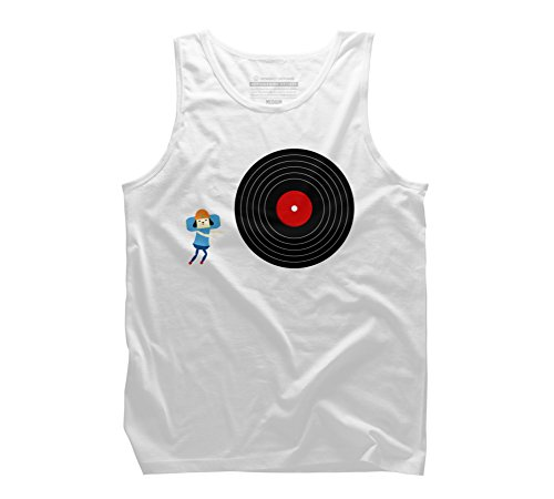 U Rollin' GOOD ! Men's Small White Graphic Tank Top - Design By Humans (Parappa The Rapper 2 Ps2)
