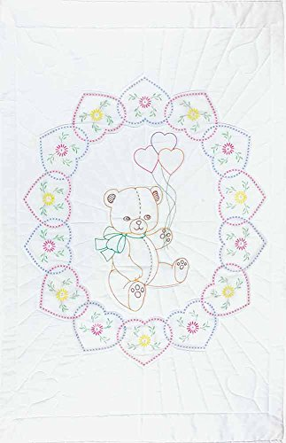(Bear With Balloons Crib Quilt Top)