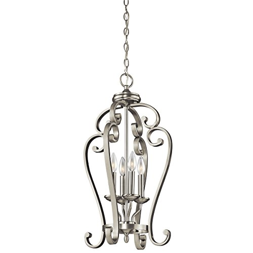oe Large Foyer Pendant 4-Light, Brushed Nickel (Tier Foyer Pendant)
