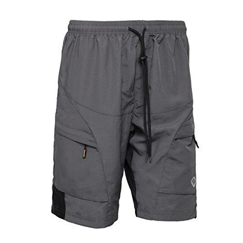 SANTIC Men's Loose-fit Mountain Bike Shorts Coolmax Lightweight Cycling MTB Shorts M