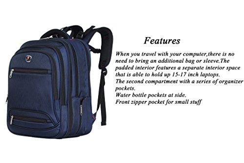 Binlion Taikes Laptop Backpack Up To 17-Inch and bolsas escolares Mochilas Tipo Casual y Bolsas y Mochilas para portátiles y netbooks Blue24