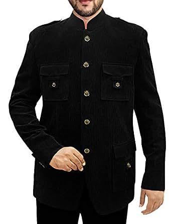 Amazon.com: INMONARCH hombre negro pana 2 PC Jodhpuri traje ...