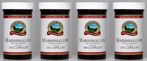 Naturessunshine Marshmallow Respiratory System Support 450 mg 100 Capsules (Pack of 4)