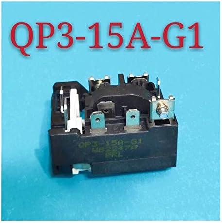 Nologo Kühlschrank Anlasserrelais Kompressor Überlastschutzrelais QP3-15A-G1 for Kühlschrank Gefrierschrank Zubehör
