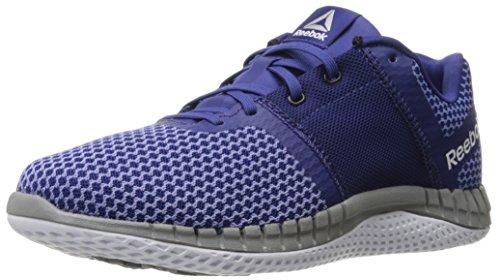 Reebok Women's Zprint Run EX Running Shoe, Night Beacon/Moon Violet/White, 5.5 M US