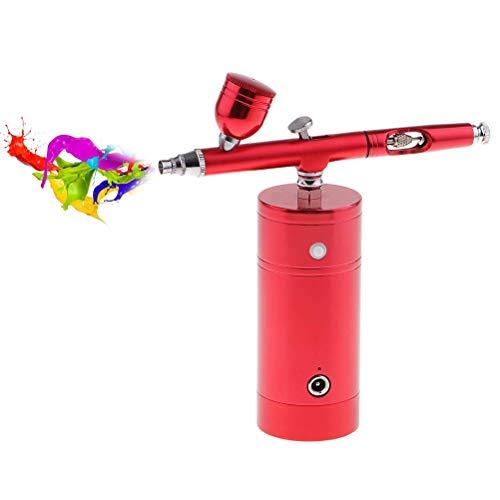 Kit de aerografía multiusos, mini bomba de pulverización portátil, compresor de aire, alimentación por gravedad,...