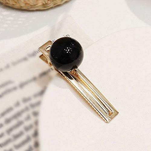 1pcs Retro Sweet Beautiful Metal +Acrylic Candy Color Ball Hair Clip Hairpin HOT (Color - 6#)