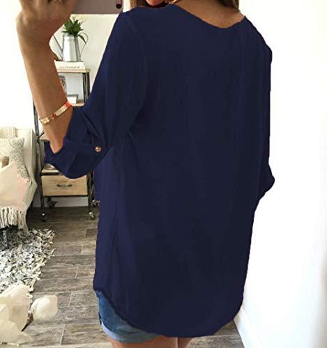Dsinvolte Fit Lettre Large Rond Courtes Col Haut Femme Tee Blouse Chic Manches Branch Loisir Blau Tops Jeune Costume Mode Shirt Mode lgant Et Shirts Slim Imprim qpvBft