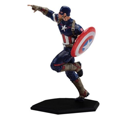 Factory Entertainment Marvel Comics Age Of Ultron Metal Miniature Captain America Statue