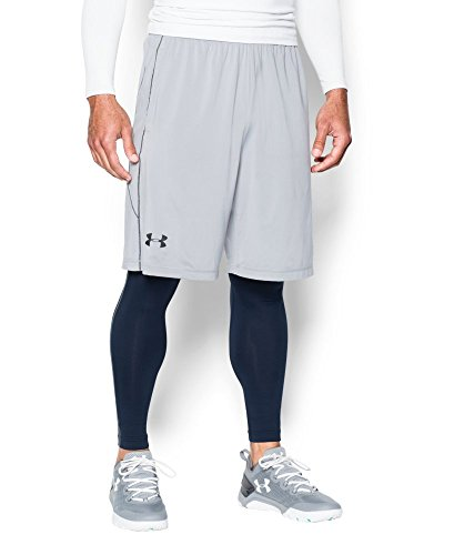 Under Armour Men's ColdGear Armour Compression Leggings, Midnight Navy /Steel, Small