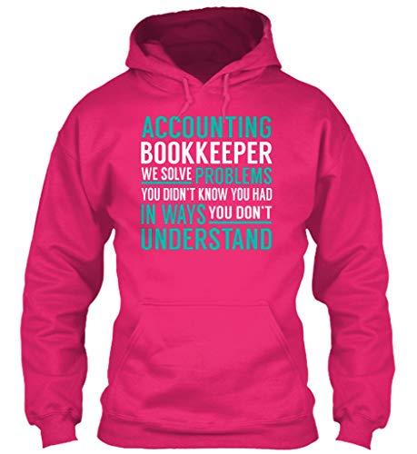 Don Hoody - Accounting. 2XL - Heliconia Sweatshirt - Gildan 8oz Heavy Blend Hoodie