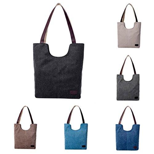 Bolsos Baratos de Shoppers para Grande Lona K y Mujer de Hombro Azul Bandolera ESAILQ Gris Niña Cnr1qRSCx