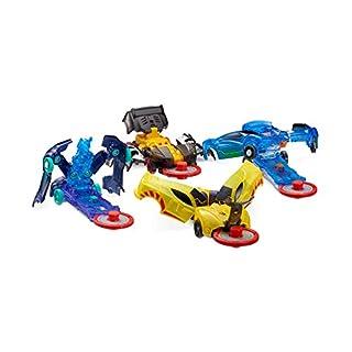 Level 1 - Jayhawk, Nightweaver, Nitebite & Sparkbug - Flipping Morphing Toy Car Vehicles (4 Pack)