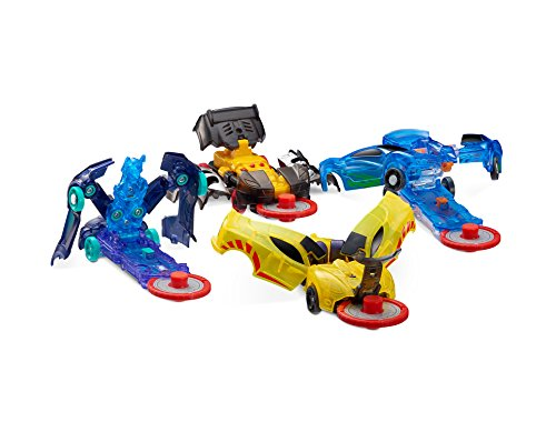 Level 1 - Jayhawk, Nightweaver, Nitebite & Sparkbug - Flipping Morphing Toy Car Vehicles (4 Pack)