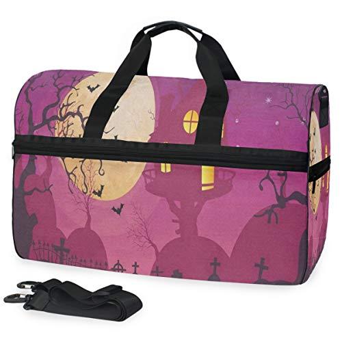 Gym Bag Halloween Moon Party Sport Duffle Holdall Bag Training Handbag Yoga bag for Men Women]()