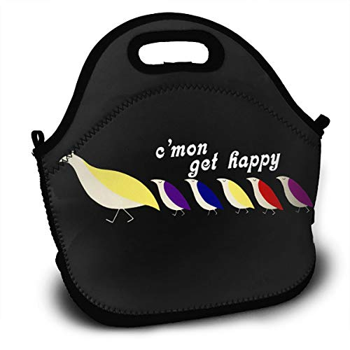 Insulated Lunch Bag, Happy Partridge Family Reusable Lunch Box Food Container Organizer Handbags Tote with Zipper for Men Women Kids (Bag Family Partridge Shopping)
