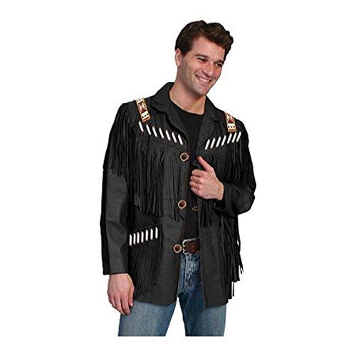 [スカーリー] メンズ ジャケット&ブルゾン Fringe Leather Jacket 902 Long [並行輸入品] B07DHP2HLT  46