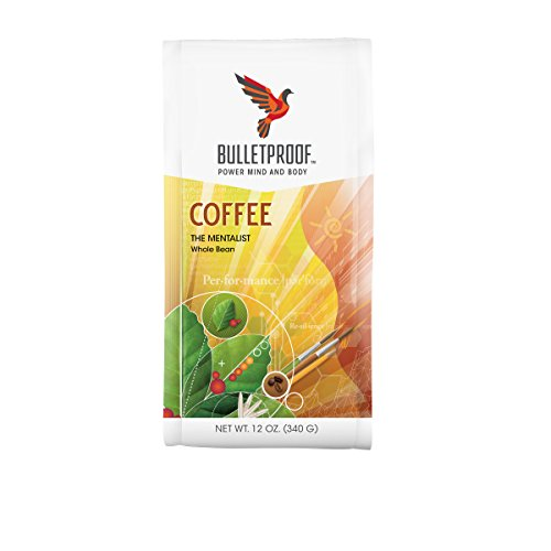 Bulletproof The Mentalist Dark Roast Whole Bean Coffee, Dark Cocoa and Vanilla Aromatics with Cherry Sweetness (12 Ounces)