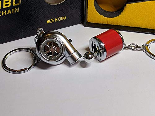 Electric LED Turbo Charger Keyring 2 Turbo Sounds,Spin,Light Retail Packing (Red Gear + Silver Turbo): Amazon.co.uk: Toys & Games