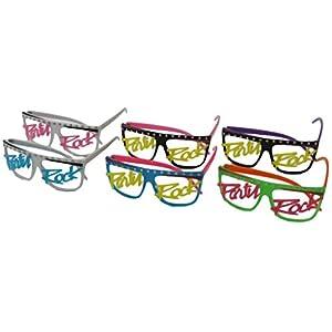 50 pairs Party Rock Neon Flat Top Lmfao Glasses Music Video Eyewear