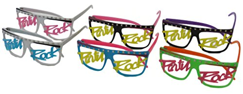 50 pairs Party Rock Neon Flat Top Lmfao Glasses Music Video - Glasses Lmfao