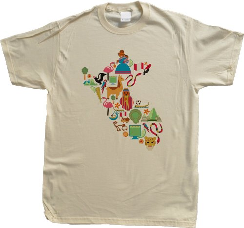 Peru Icon Map Unisex T-shirt Peru Map Shirt