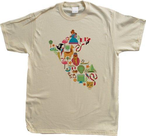Peru Icon Map Unisex T-shirt Peru Map Shirt