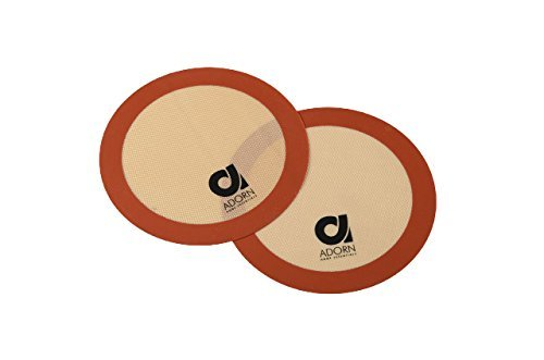Adorn Home Essentials| Professional Non-stick Silicone Baking Mats| 2- Pack, Round 12